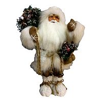 Lodge 18.5-in. Sherpa Santa Figurine Table Decor