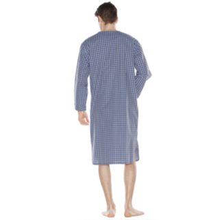 Men's Residence Plaid Poplin Woven Nightshirt