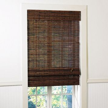 Radiance Santa Cruz Light Filtering Bamboo Roman Shades