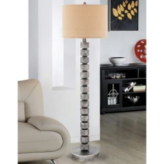 Catalina Contemporary Stacked Disc Floor Lamp