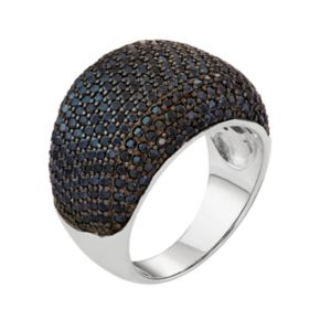 Sterling Silver Black Spinel Ring