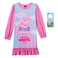 Girls 4-8 Peppa Pig Pretty Pink Dorm Nightgown