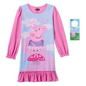 Girls 4-8 Peppa Pig Pretty Pink Dorm Nightgown