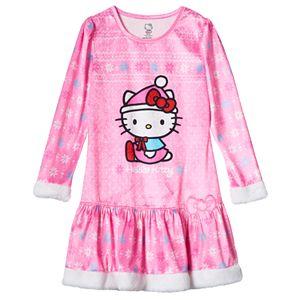 Girls 4-10 Hello Kitty® Fairisle Dorm Nightgown