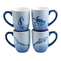 Certified International Sea Life 4-pc. Coffee Mug Set