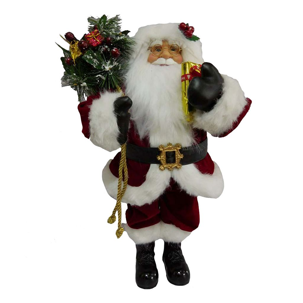 Traditional 18.5-in. Santa Figurine Table Decor