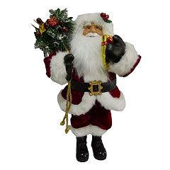 Traditional 18.5 in Santa Figurine Table Decor