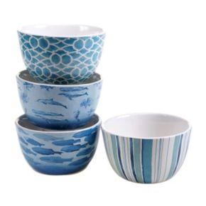 Certified International Sea Life 4-pc. Ice Cream Bowl Set