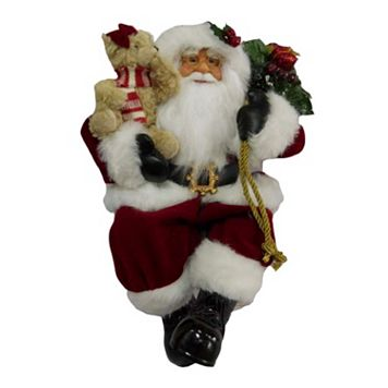Traditional 16.5-in. Sitting Santa Figurine Table Decor