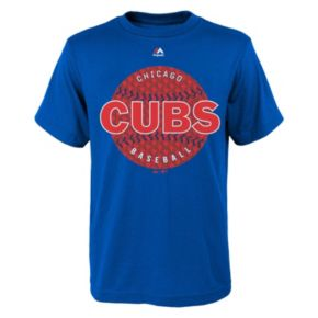 Boys 8-20 Chicago Cubs Electric Baseball Tee