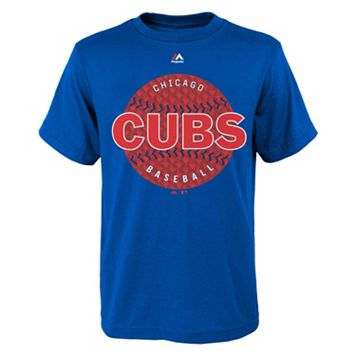Boys 8-20 Chicago Cubs Electric Baseball Tee