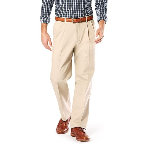 Men's Dockers® Relaxed-Fit Signature Stretch Khaki Pants - Pleated D4