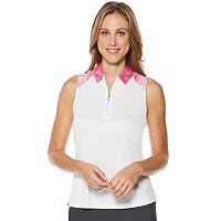 Women's Grand Slam Performance Sleeveless Print Golf Polo