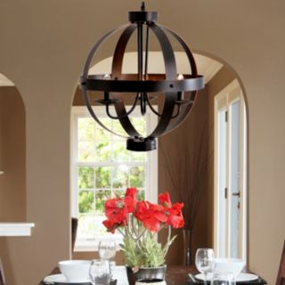 Catalina 3-Light Metal Orb Chandelier
