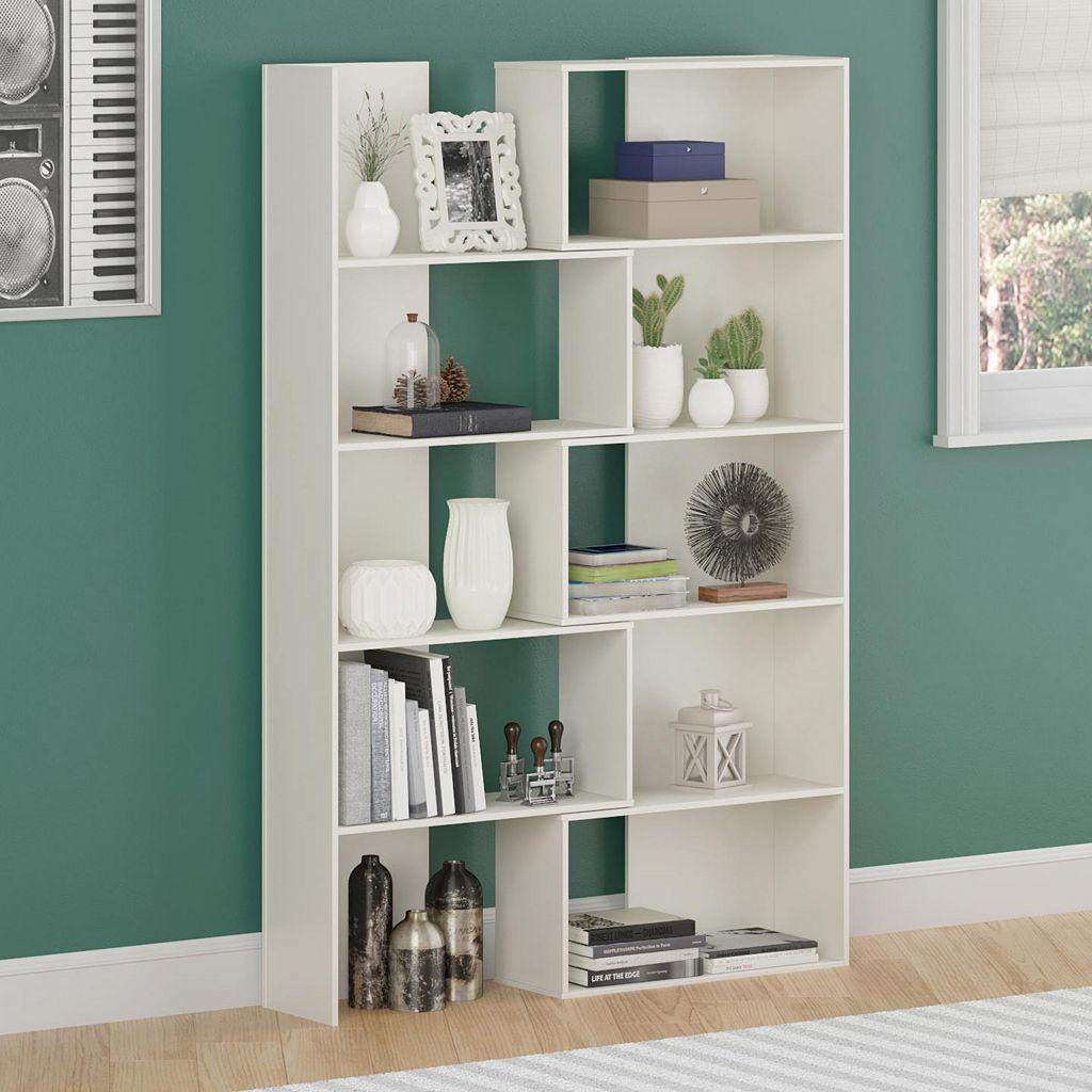 Altra Transform White Expandable Bookshelf