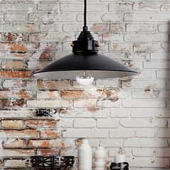 Catalina Bronze Finish Metal Farmhouse Pendant Lamp