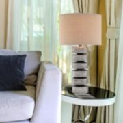 Catalina Contemporary Stacked Disc Table Lamp