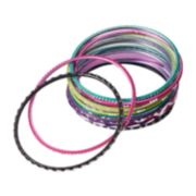 Girls 4-16 12-pk. Glitter Etched Bangle Bracelets