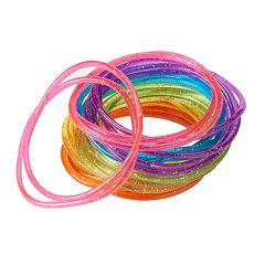 Girls 4-16 24 pkGlitter Jelly Bracelets