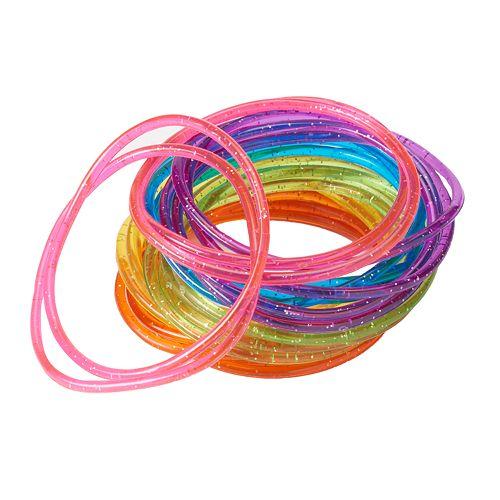 Girls 4-16 24-pk. Glitter Jelly Bracelets