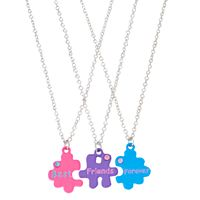 Girls 4-16 3-pc. Best Friends Forever Puzzle Piece Necklace Set
