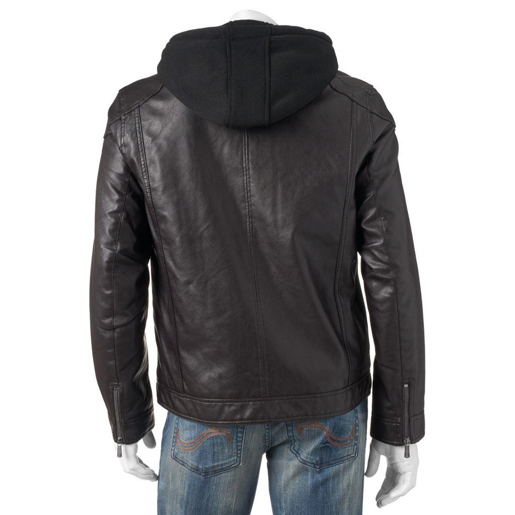 Men's Apt. 9® Classic-Fit Faux-Leather Military Jacket