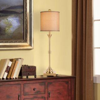 Catalina Antique Brass Finish Buffet Lamp
