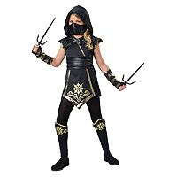 Kids Gold Ninja Girl Costume