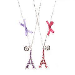 Girls 4-16 Eiffel Tower Best Friends Necklace Set