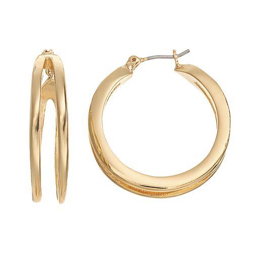 Dana Buchman Split Hoop Earrings