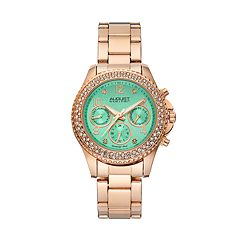 August Steiner Women's Diamond & Crystal Swiss Watch
