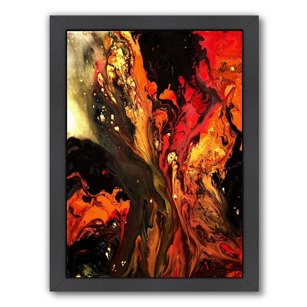 Americanflat Burning Desire Abstract Framed Wall Art