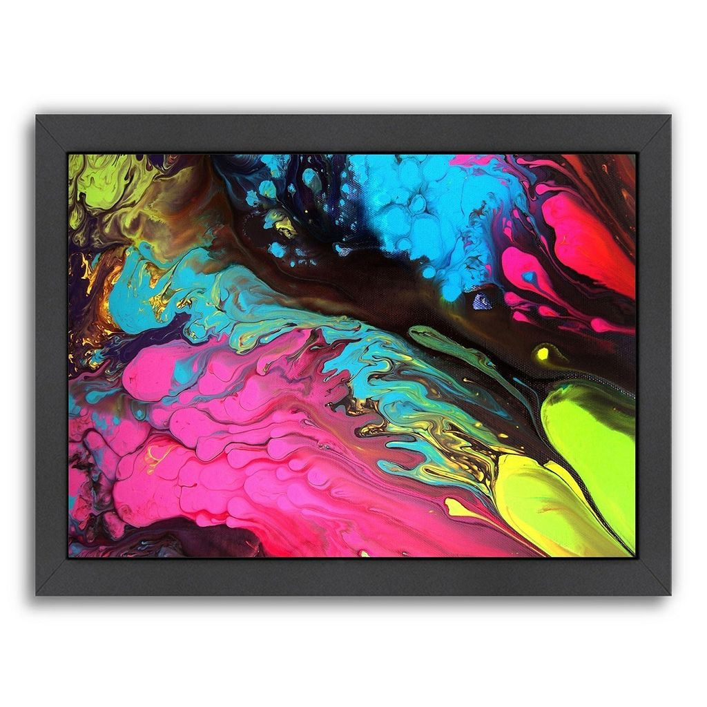 Americanflat Leaps and Bounds Abstract Framed Wall Art