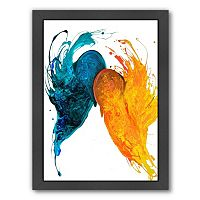 Americanflat Like Fire and Ice Abstract Framed Wall Art