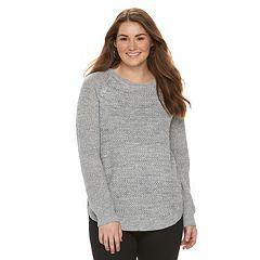 Juniors' Plus Size SO® Scoopneck Sweater