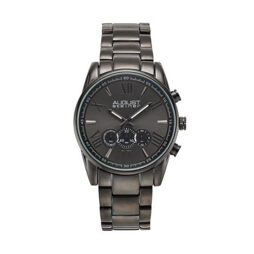 August Steiner Men's Stainless Steel Chronograph Watch