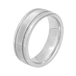Men's Stainless Steel Textured Wedding Band