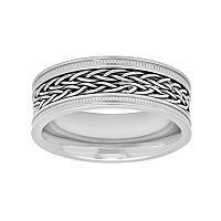 Men's Stainless Steel Braided Wedding Band