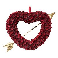 Celebrate Valentines Day Together Wood Curl Heart Wreath