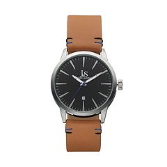 Joshua & Sons Men's Leather Swiss Watch