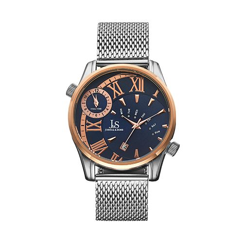 Joshua & Sons Men's Stainless Steel Mesh Watch