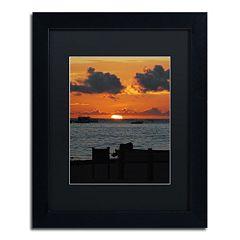 Trademark Fine Art Exhale Black Framed Wall Art