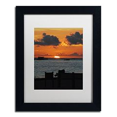 Trademark Fine Art Exhale Black Framed Wall Art