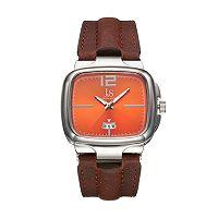 Joshua & Sons Men's Leather Watch