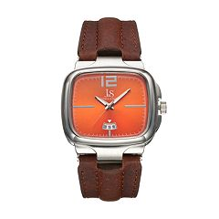 Joshua & Sons Men's Leather Watch