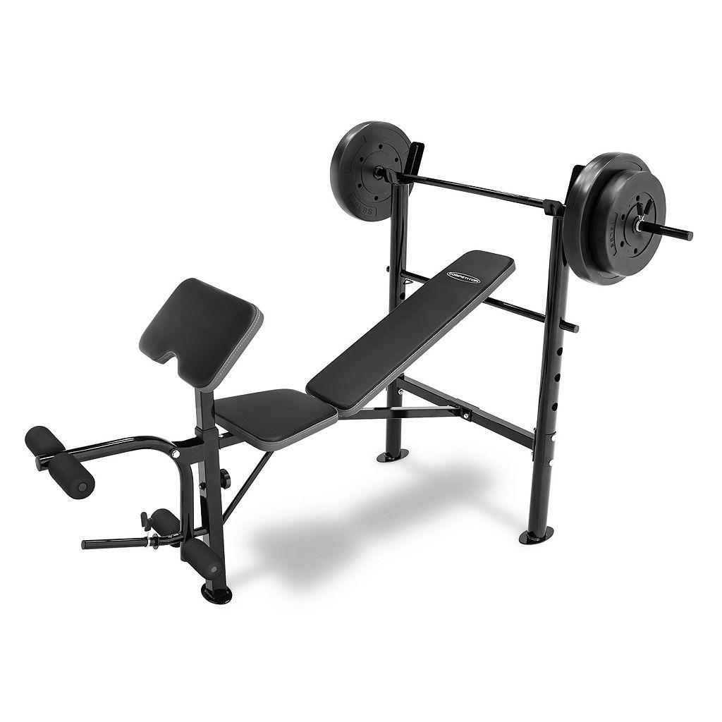 Competitor Standard Bench & 80-Pound Weight Set