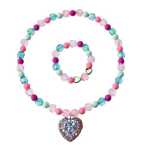 Girls 4-16 2-pc. Heart Necklace & Bracelet Set