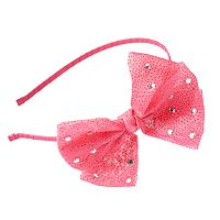 Girls 4-16 Fuchsia Chiffon Bow Headband