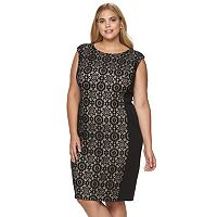 Plus Size Suite 7 Lace Sheath Dress