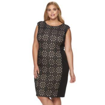 Plus Size Suite 7 Lace Sheath Dress